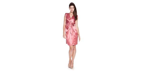 Dámské růžové hedvábné šaty Philosophy