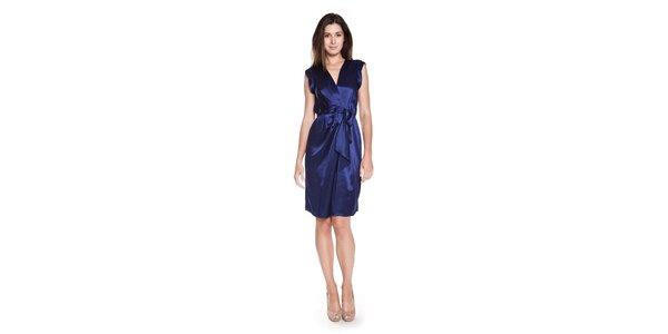 Dámské tmavě modré hedvábné šaty Philosophy