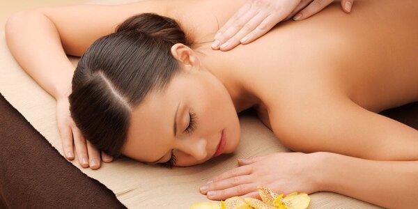 60minutová masáž zad a dolních končetin