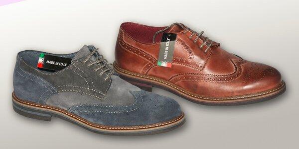 Luxusní jarní pánská italská obuv