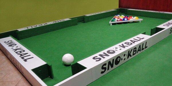 Zábavná hra Snookball s možností občerstvení