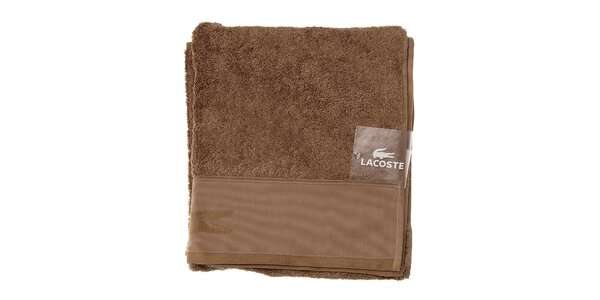 Větší bavlněný ručník Lacoste