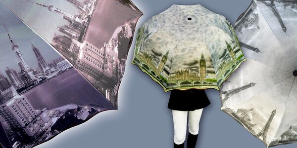 Skládací deštníky s potiskem slavných měst