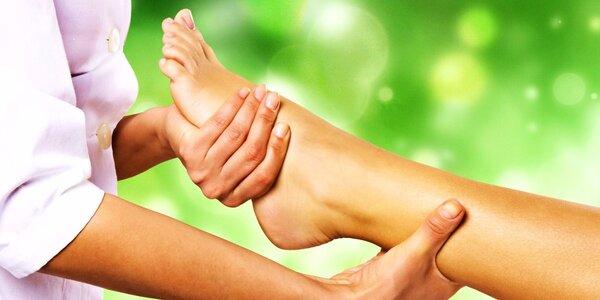 Reflexní masáž chodidel se zábalem rukou i nohou