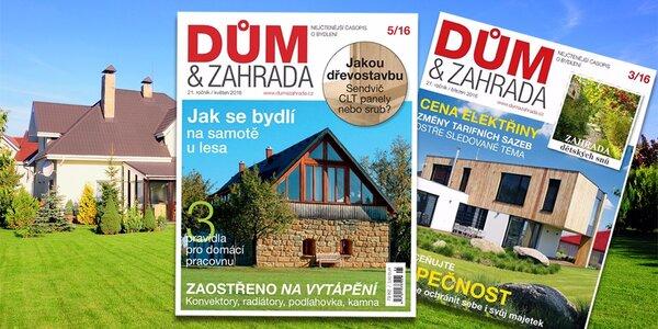 Roční předplatné časopisu Dům a zahrada