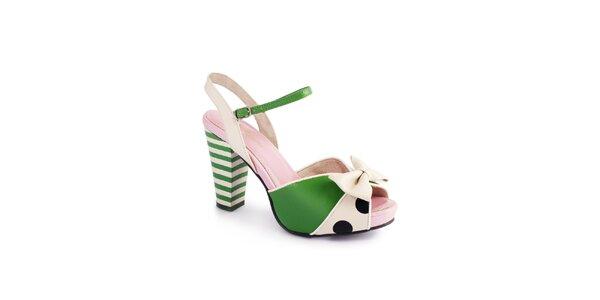 Dámské zeleno-krémové sandály Lola Ramona