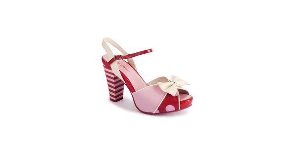 Dámské růžovo-červené sandály Lola Ramona
