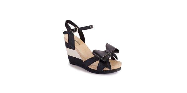 Dámské černé sandály Lola Ramona na vysokém klínu