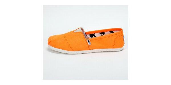 Pánské sytě oranžové plátěnky Toms