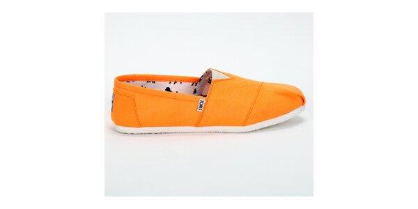 Dámské sytě oranžové plátěnky Toms