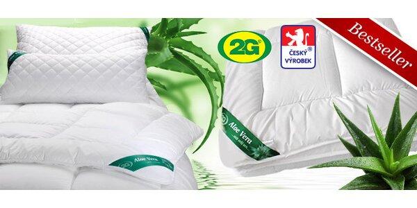 Přikrývky, polštáře, podložky s úpravou Aloe Vera - 1+1 zdarma