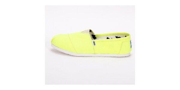 Pánské neonově žluté plátěnky Toms