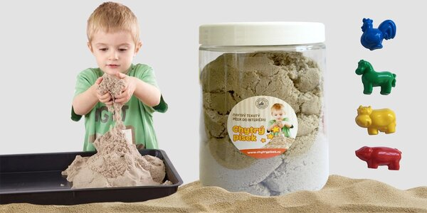Kinetický písek s formičkami