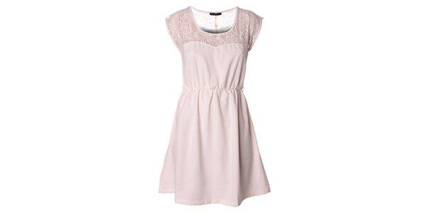 Dámské bílé šaty s krajkou Daphnea