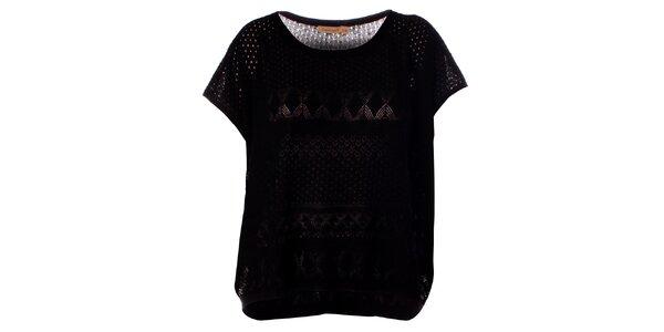 Dámský černý pletený top Daphnea