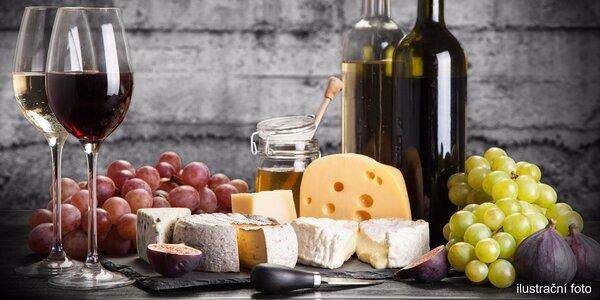 Večer u vína a skvostných sýrů pro dva