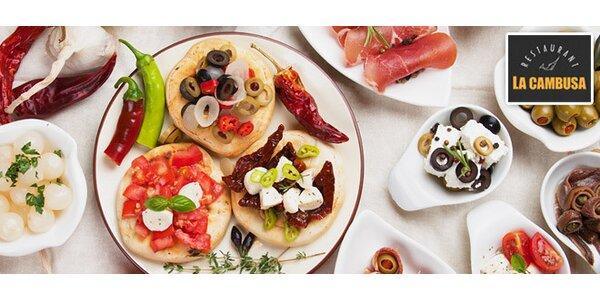 Rafinované tapas menu pro dva v restauraci La Cambusa