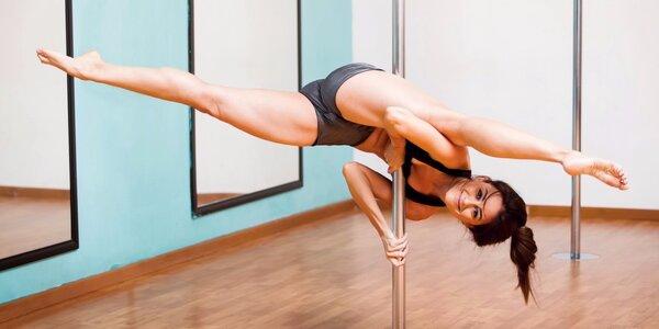 Lekce pole dance, stretching a dalších cvičení