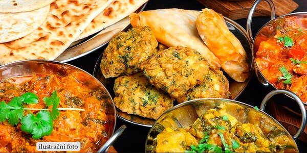 Bohaté indické menu pro dva