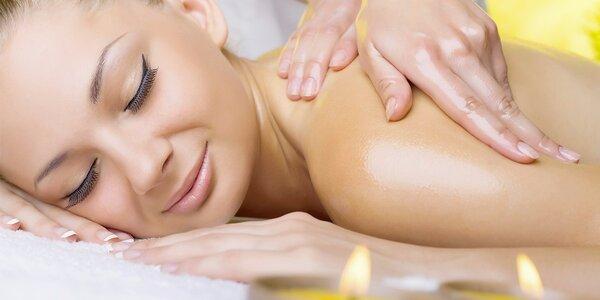 30minutová regenerační masáž zad