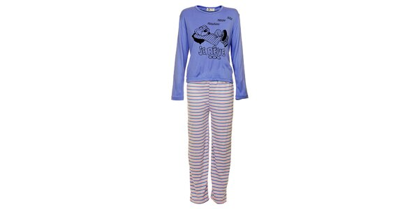 Dámské modré pyžamo Moda para TI s medvědem - kalhoty a tričko