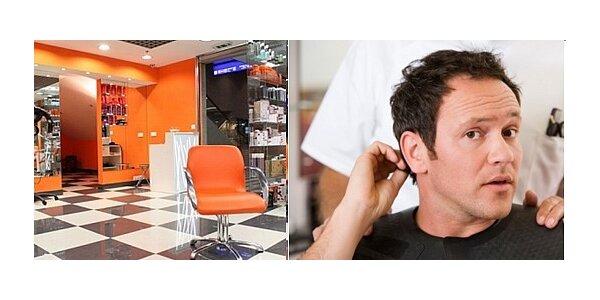 Pánské stříhání (stříhání, mytí, foukání, styling) ve stylovém salonu v centru…