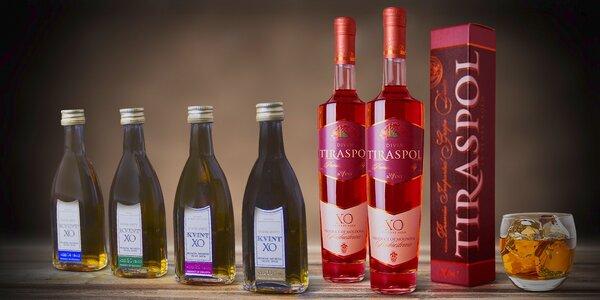 Luxusní lahodné brandy moldavské značky Kvint
