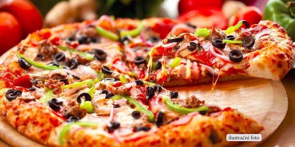 Téměř půlmetrová pizza dle vašeho výběru