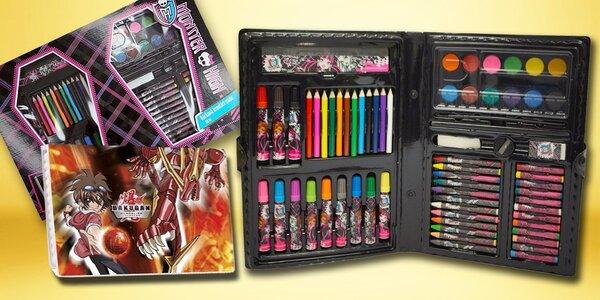 Kufříky Monster High a Bakugan pro malé výtvarníky