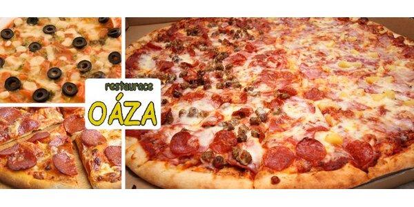 99 Kč za DVĚ pizzy podle vlastního výběru v restauraci Oáza