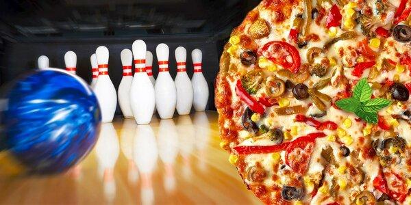 Pizza a hodina bowlingu v Bowlingu Slavičín