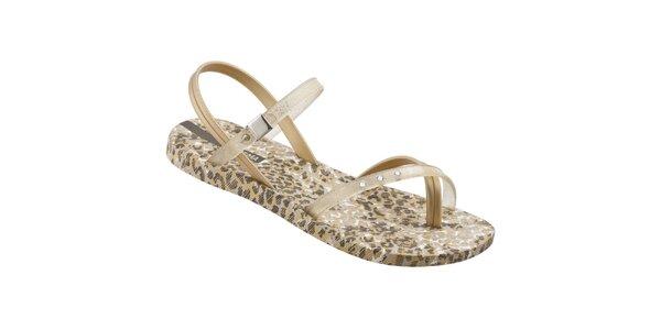 Dámské zlato-hnědé sandály Ipanema s leopardím vzorem