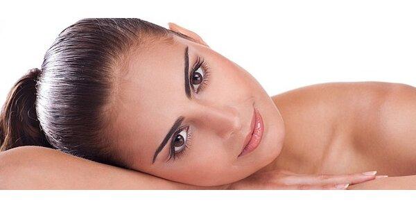 Kosmetická ošetření konopnou kosmetikou Cannaderm s masáží a LED Active lampou
