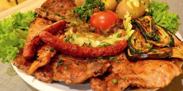 Balkánské masové menu včetně předkrmu