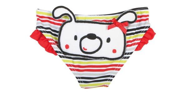 Pruhované kojenecké plavkové kalhotky Tuc Tuc s pejskem