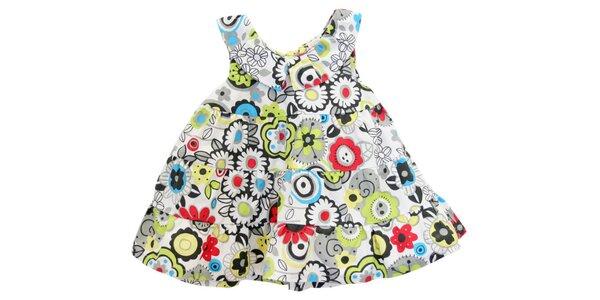Dětské květované volánové šaty Tuc Tuc