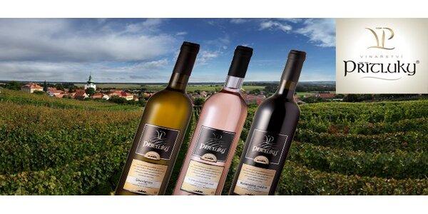 299 Kč za 3 přívlastková vína z Vinařství Přítluky. Slibný degustační set…