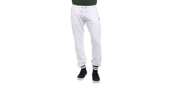 Pánské bílé teplákové kalhoty Cooperativa