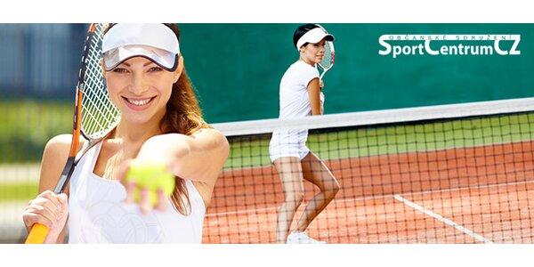 Hodina tenisu na kvalitní antuce v centru Olomouce