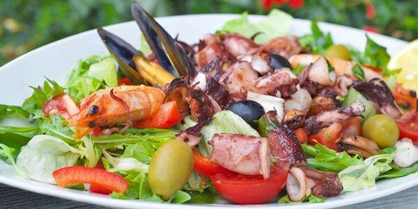 Chorvatské menu s mořskými plody i dezertem