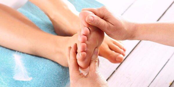 Reflexní terapie a masáž plosek nohou