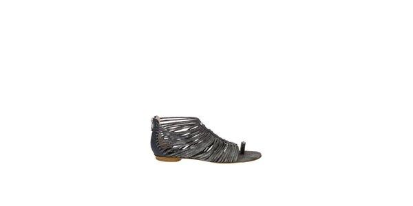 Dámské antracitové sandály Miss Sixty