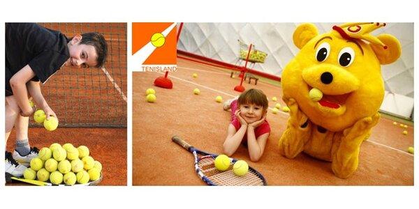69 Kč za tréninkovou hodinu tenisu pro děti do 12 let s profi trenérem!