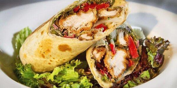 Parádní mexická menu s wrapy nebo burritos