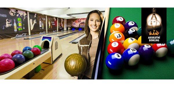 2 hodiny zábavy v Absolutním Bowlingu až pro 10 osob