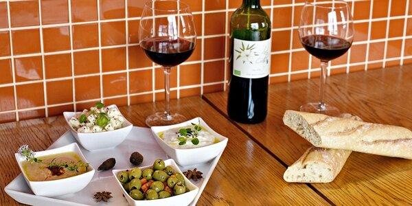 Posezení pro 2: Tapas a francouzské bio víno
