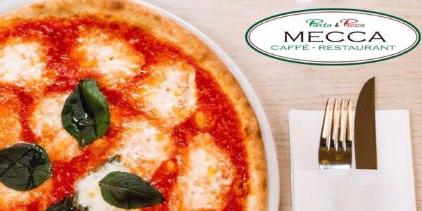 Dvě delikátní pizzy v Pasta & Pizza Mecca