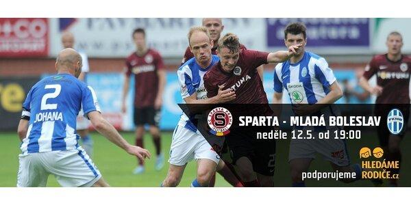 Sparta versus Mladá Boleslav - vstupenky pro rodiče s dětmi na podporu projektu