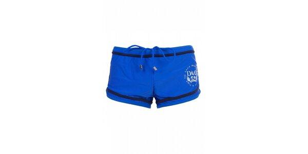Pánské zářivě modré plavky David s nohavičkami