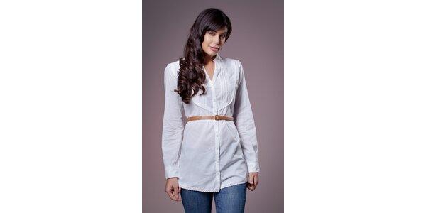 Dámská bílá košile Ada Gatti s páskem